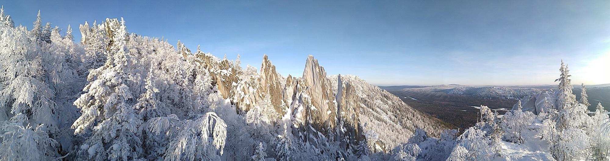 Панорама с южной вершины Двуглавой сопки