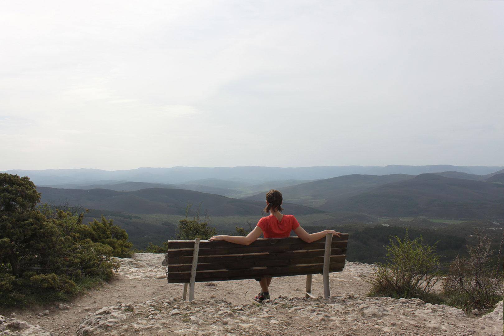 Смотровая площадка на вершине Чуфут-Кале